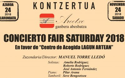 CONCIERTO KONTZERTUA: FAIR SATURDAY 2018