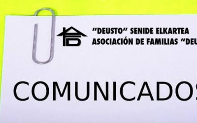 COMUNICADO MAYO 2016