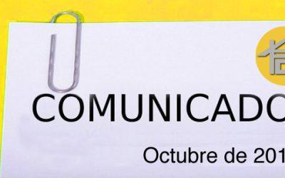 COMUNICADO OCTUBRE 2016