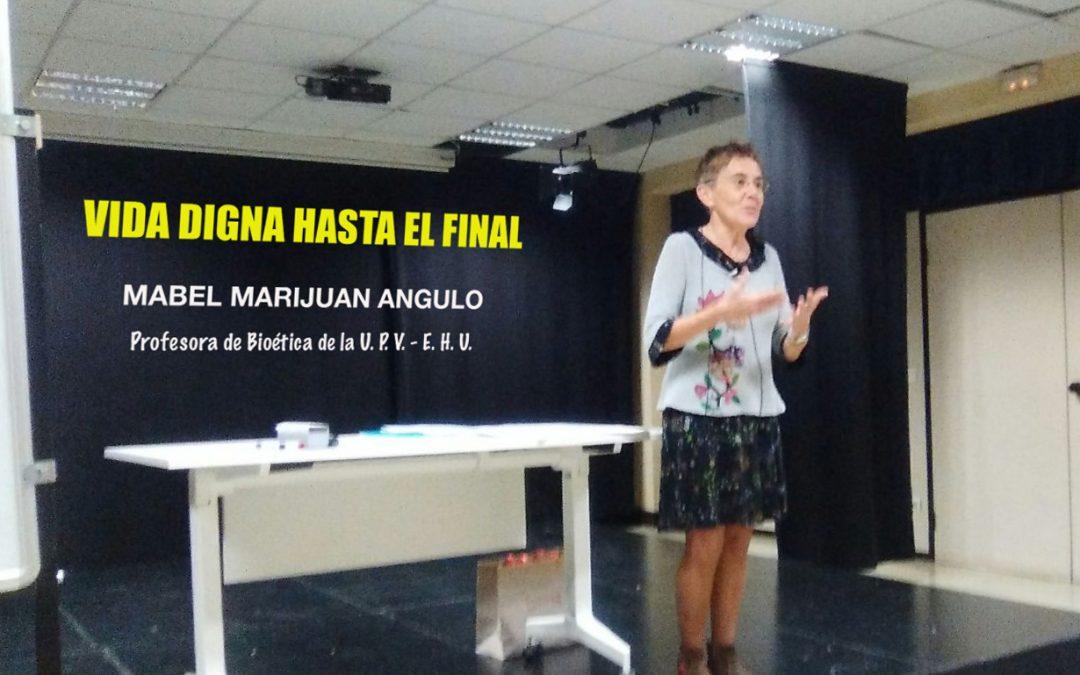 CHARLA/HITZALDIA: VIDA DIGNA HASTA EL FINAL