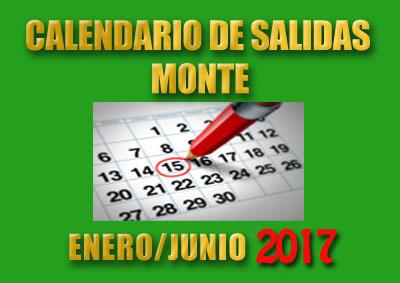 CALENDARIOS MONTE ENERO/JUNIO 2017