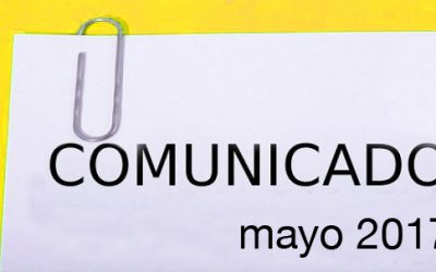 COMUNICADO MAYO 2017