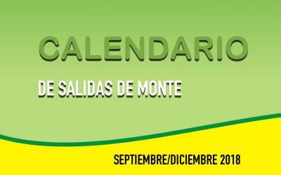 SALIDAS MONTE SEPTIEMBRE/DICIEMBRE 2018