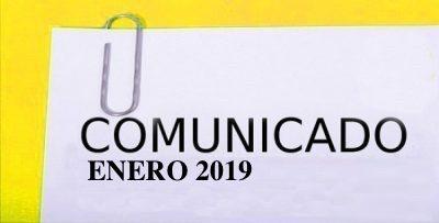 COMUNICADO ENERO 2019 Y CONVOCATORIA ASAMBLEA ANUAL