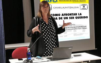CHARLA/HITZALDIA    COMO AFRONTAR LA PÉRDIDA DE UN SER QUERIDO