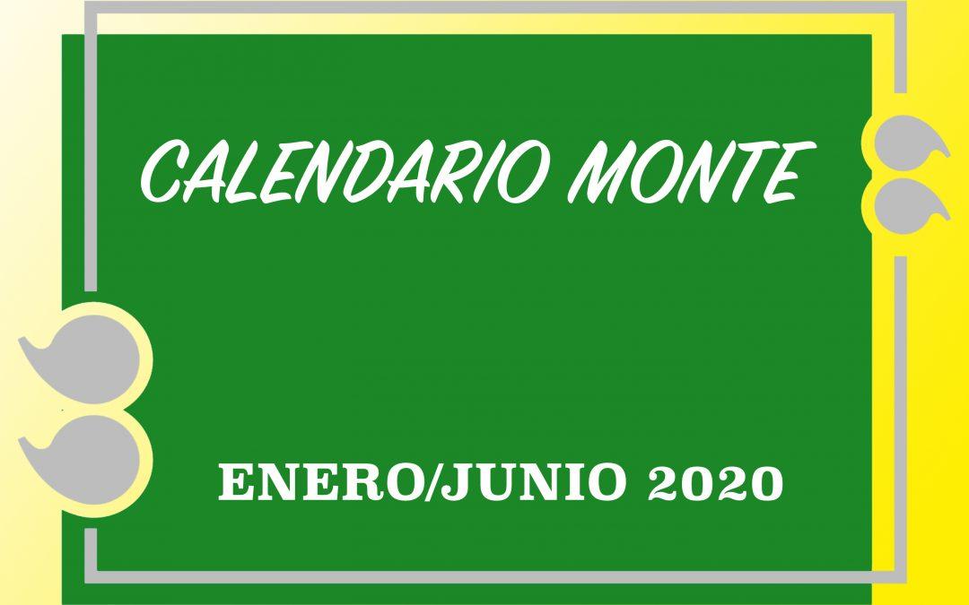CALENDARIO MONTE ENERO/JUNIO 2020